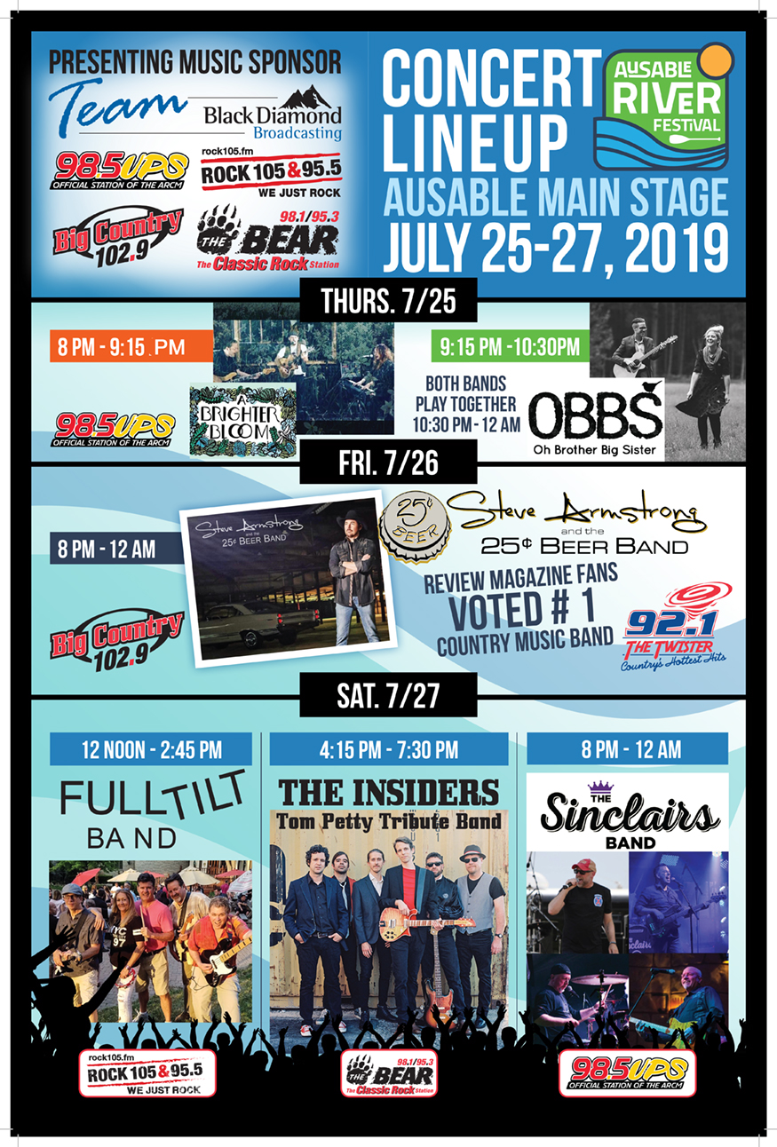 Music Stage 2019 AuSable River Fest