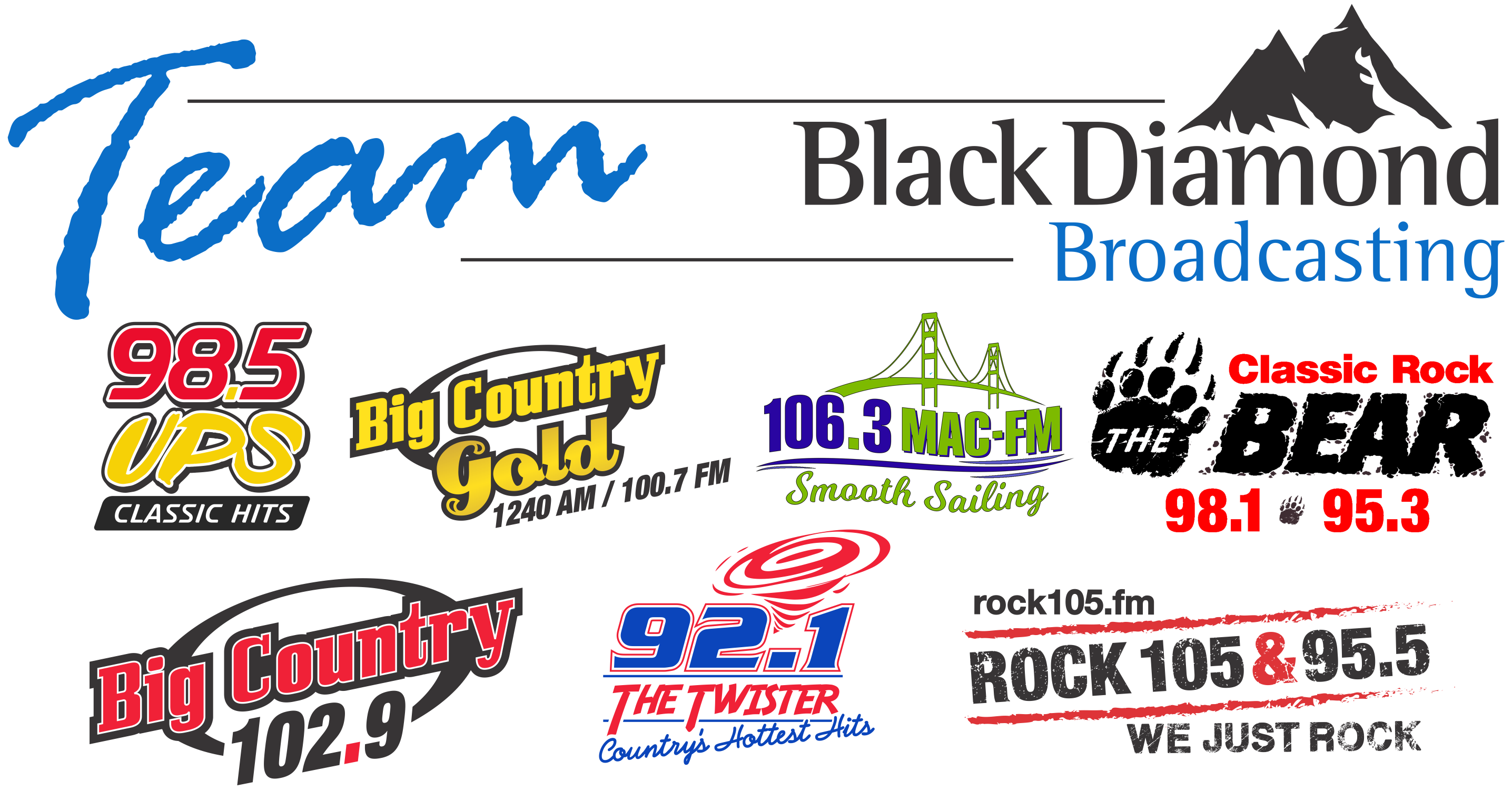 Team Black Diamond Broadcasting radio stations logo